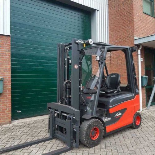 Linde E20-01 (387) Duplex Freeflift s.s en v.v